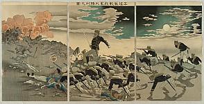 Kiyochika Kobayashi 1847-1915 - Sino-Japanese War - Battle of Pyongyang