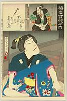Kunichika Toyohara 1835-1900 - One Hundred Kabuki Roles by Onoe Baiko - Young Hideyoshi