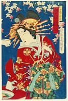 Chikanobu Toyohara 1838-1912 - Spirit of a Doll - Kabuki