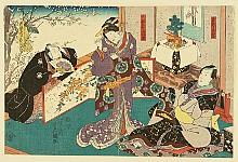 Kunisada Utagawa 1786-1865 - Lovers - Kabuki
