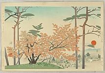 Shinso Mizuno fl.ca. 1940-50 - View of Kyoto
