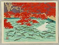 Kenji Kawai 1908-1995 - Fish Farm in Shiga