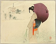 Toshikata Mizuno 1866-1908 - Parasol - Dream Talk