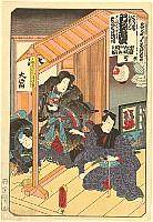 Kunisada Utagawa 1786-1865 - List of Titles of Dance Forms - Female Bandit