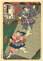 Kunisada Utagawa 1786-1865 - List of Titles of Dance Forms - Severed Head
