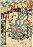 Kunisada Utagawa 1786-1865 - Insect Seller