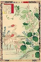 Bairei Kono 1844-1895 - Birds and Flowers - Birds and Sweet Pea