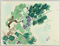 Eiichi Kotozuka 1906-1979 - Squirrel and Grapes