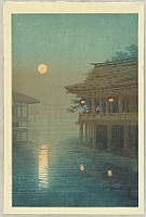Yuhan Ito 1882-1951 - Misty Moon at Miyajima