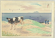 Shinsui Ito 1898-1972 - Twelve Scenic Places of Oshima Island - Sand Hill in the Morning