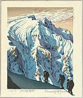 Osamu Sugiyama born 1946 - Climbing up Mount Tanigawa - Japan