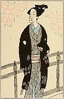 Yumeji Takehisa 1884-1934 - Samurai and Cherry Blossoms