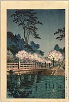 Koitsu Tsuchiya 1870-1949 - Tokyo Views - Benkei Bridge