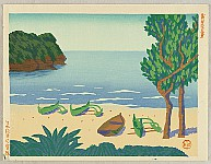 Masao Maeda 1904-1974 - New One Hundred Views of Japan - Beach at Bonin Islands