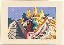 Takayoshi Ito born 1926 - 36 Views of  Mexico - Road to a Church