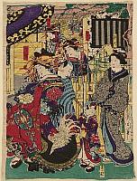 Kunichika Toyohara 1835-1900 - Beauty Imamurasaki