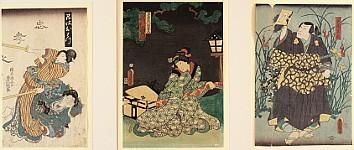 Kunisada Utagawa 1786-1865 - Sword Master, Beauty, Ghost
