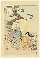Toshikata Mizuno 1866-1908 - Thirty-six Selected Beauties - at a Shore