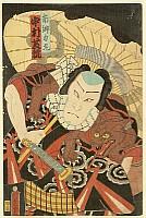 Kunisada Utagawa 1786-1865 - Chivalrous Man Rikimaru - Kabuki