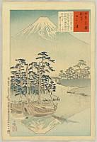 Kiyochika Kobayashi 1847-1915 - Views of the Famous Sights of Japan - Mt. Fuji from Tagonoura