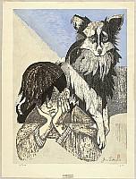 Junichiro Sekino 1914-1988 - Boy and a Dog