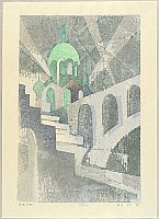 Rei Yuki 1928-2003 - One Hundred Views of Tokyo - Twilight - Ochanomizu