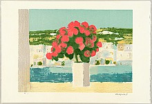 Masayoshi Nishimura fl.ca. 1980- - Red Flowers on a Windowsill