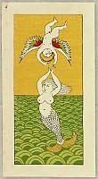 Takeo Takei 1894-1983 - Angel and Mermaid