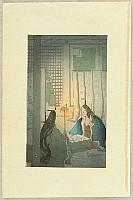 Hiromitsu Nakazawa 1874-1964 - The Tale of Genji - Chapter 3   Utsusemi