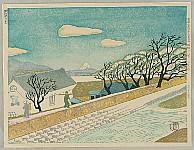Kishio Koizumi 1893-1945 - 36 Views of Mt. Fuji - Mt. Fuji and Lake Suwa