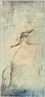 Hokusai Katsushika 1760-1849 - Descending Wild Geese