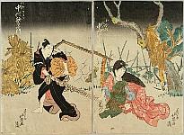 Hokuei Shumbaisai active 1829-37 - Two Lovers