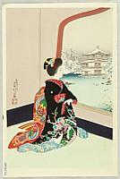 Sadanobu III Hasegawa 1881-1963 - Maiko in Winter
