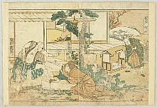 Hokusai Katsushika 1760-1849 - Chushingura - Brother and Sister