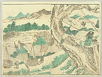 Hokusai Katsushika 1760-1849 - Hokusai Soga - Village Workers