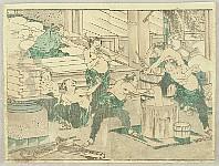Hokusai Katsushika 1760-1849 - Hokusai Soga - Rice Cake Making