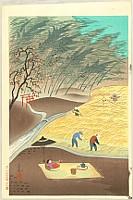 Bakufu Ono 1888-1976 - Farmer's Family in Autumn Harvest