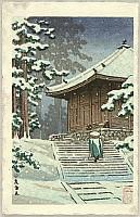 Hasui Kawase 1883-1957 - Hall of Golden Hue - Konjikido