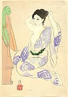 Kiyoshi Kobayakawa 1897-1948 - Mirror - After a Bath