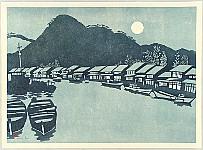 Kunio Isa fl.ca. 1960-2000 - Akamagaseki at Night