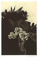 Ryo Arai 1933-2009 - Beauty, Roses and Butterfly