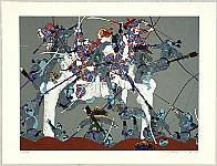 Hideo Takeda born 1948 - Battle of the Genji and the Heike - Genpei - Yoshitsune, Escape from Kyoto