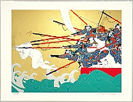 Hideo Takeda born 1948 - Battle of the Genji and the Heike - Genpei - Emperor Antoku Plunges into Water