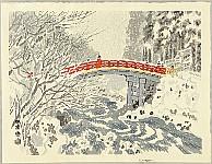 Eiichi Kotozuka 1906-1979 - Shinkyo Bridge in Nikko