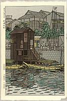 Shiro Kasamatsu 1898-1992 - Eight Views of Tokyo - Tokyo Hakkei no Uchi - Near Yanagi Bridge
