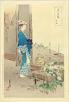 Gekko Ogata 1859-1920 - Comparisons of Beauties and Flowers - Bijin Hana Kurabe - Morning Glory