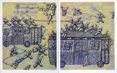 Zheng Jianhui born 1983 - Village in Past and Present - No. 10 - Two Panels