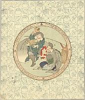 Hokkei Totoya 1780-1850 - Daikoku and Ebisu - Seven Lucky Gods