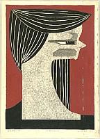Kunihiro Amano born 1929 - Side Portrait - A - Yokogao - A