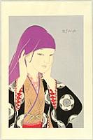 Koji Fukiya 1898-1979 - Purple Scarf - Okosozukin